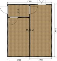 Модульное здание (пример из 2-х БК-00)